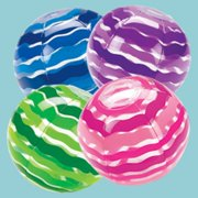 Lot of 12 Stripes Inflatable Beach Balls Pool Party