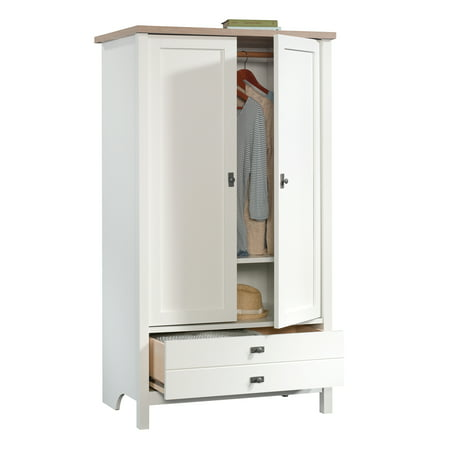 Sauder Cottage Road Armoire, Soft White Finish
