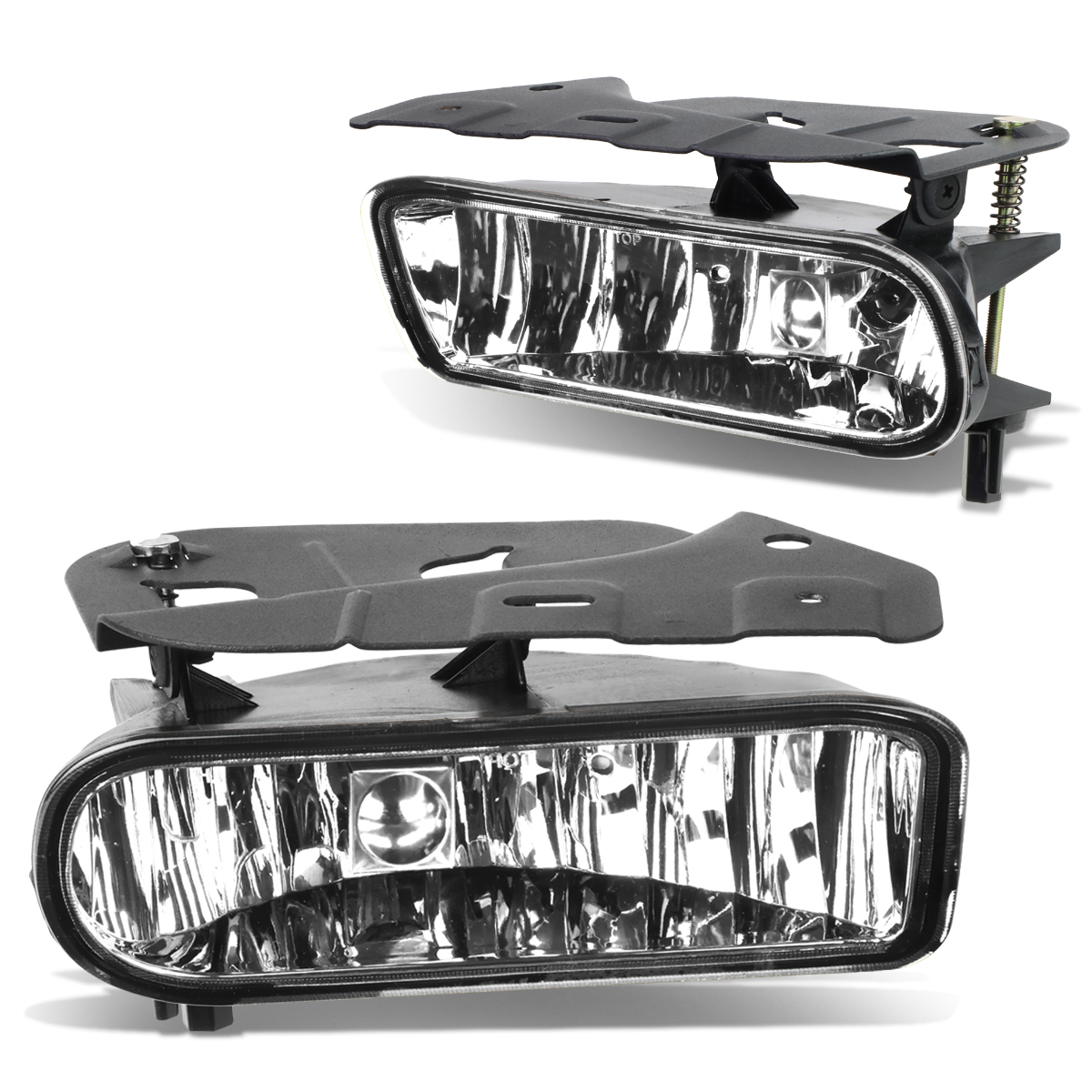 For 02-06 Cadillac Escalade EXT ESV Pair Bumper Driving Fog Light/Lamp Clear Lens 03 04 05