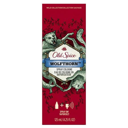 Old Spice Wild Collection Men's Cologne Spray, Wolfthorn 4.25 Fl - Wild Ginger Cologne