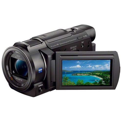 Sony FDR-AX33 4K Full HD 3840x2160 Wi-Fi Camcorder Bundle 64GB SD Card - Black - Refurbished