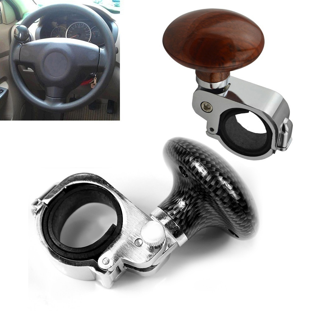 Girl12Queen Universal Auto Car Power Steering Wheel Ball Suicide Spinner Handle Knob Booster