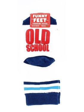 Funny Feet Toddler Socks: Old School Dinosaur