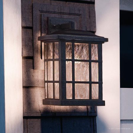 - Urban Ambiance Luxury Craftsman Outdoor Wall Light, Medium Size: 15.5
