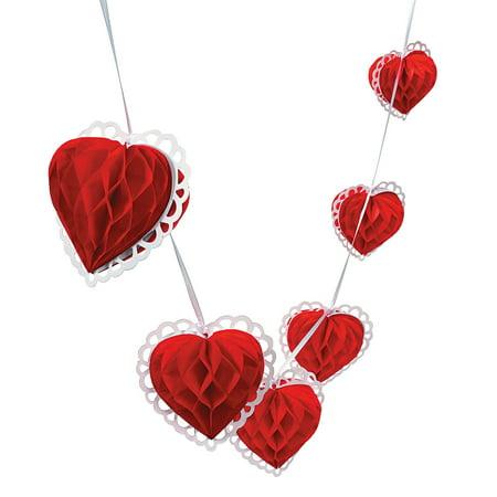 Valentines Decor (IN-32/655 Valentine Heart Garland 9)