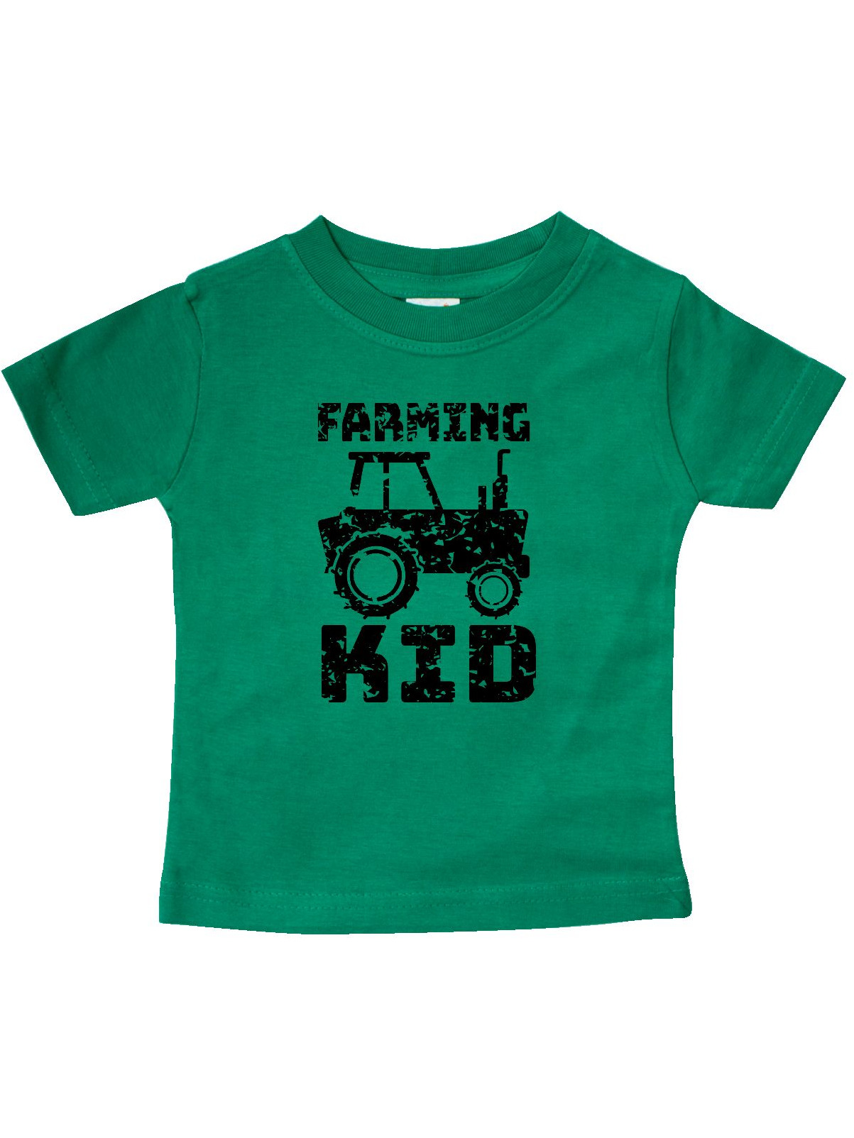 Tractor Distressed Look Baby T-Shirt inktastic Farming Kid