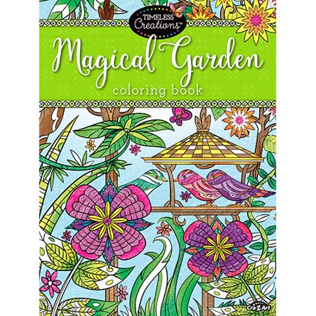 Cra Z Art Timeless Creations MAGICAL GARDENS Coloring Book