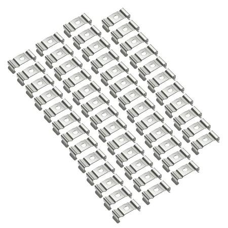 50 Pcs T4 T5 Fluorescent Tube Lamp Socket Lampholder Bracket Clip Silver Tone