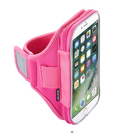 Sporteer Velocity V7 Universal Armband For Iphone 7 Plus  Iphone 6 Plus  Google Pixel Xl  Samsung Galaxy Note 5  Note 4  Nexus 6P  And All Phones Cases  Pink  Strap Size S M