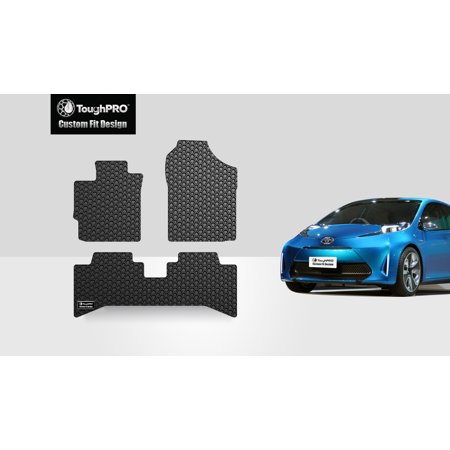 Toyota Heavy Duty (ToughPRO - TOYOTA Prius C 1st & 2nd Row Mats - All Weather - Heavy Duty - Black Rubber - 2013 )