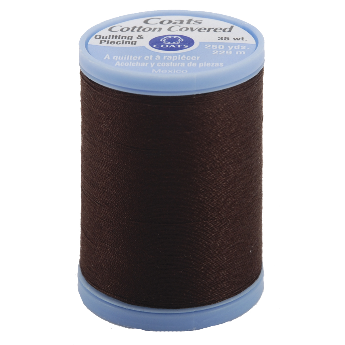 COATS & CLARK Cotton Covered Quilting and Piecing Thread, 250-Yard, Chona Brown Multi-Colored