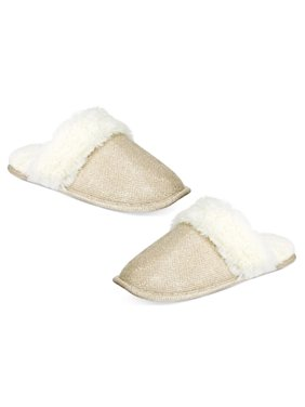 56335cd6008 Product Image INC International Concepts Gold Metallic Scuff Slippers Size  Small 5-6