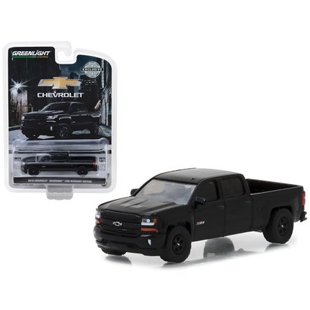 Silverado 1500 Models (2018 Chevrolet Silverado 1500 Z71 Pickup Truck Black Midnight Edition Hobby Exclusive 1/64 Diecast Model by)