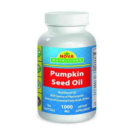 Nova Nutritions Pumpkin Seed Oil 1000 mg 180
