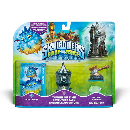 Skylanders SWAP Force Tower of Time Adventure Pack, Includes: Skylanders SWAP Force Tower of Time Adventure Pack, Trading Card, and Sticker Sheet By