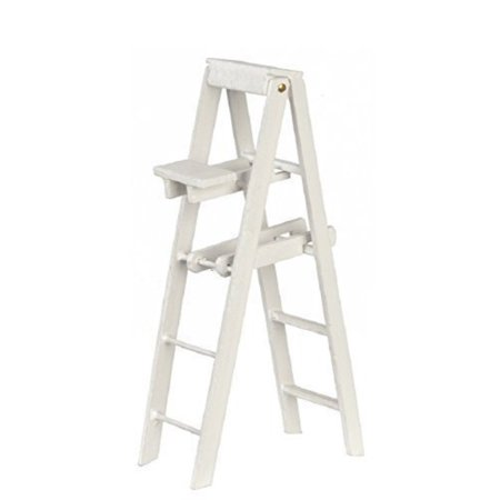 Melody Jane DollHouse White Step Ladders Large Miniature Decorators Accessory (Melody House)