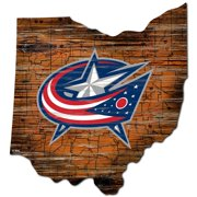 Columbus Blue Jackets Distressed State Cutout Sign