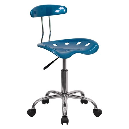 Flash Furniture Computer Task Chair with Tractor Seat and Chrome Base