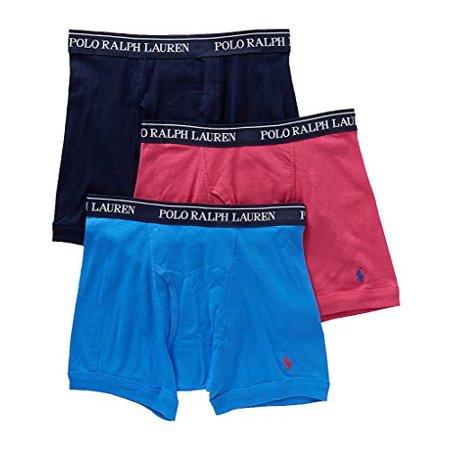 d103dbbcd53d Polo Ralph Lauren - Classic Cotton Boxer Brief 3-Pack (Medium,  Navy/Blue/Pink) - Walmart.com