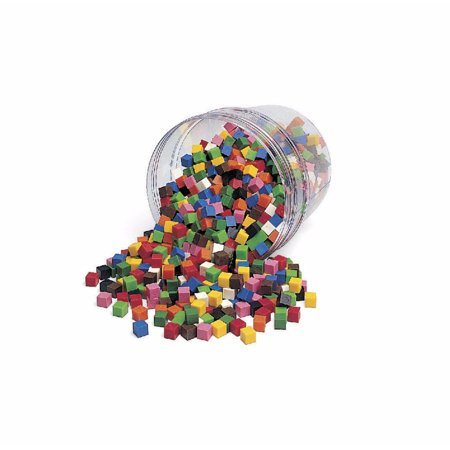 Learning Resources 069768 Learning Resources Centimeter Cubes, Assorted Colors, Set of -