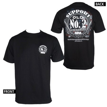 NRA Support Old No. 2 Amendment Men's Black (Nra Silhouette)