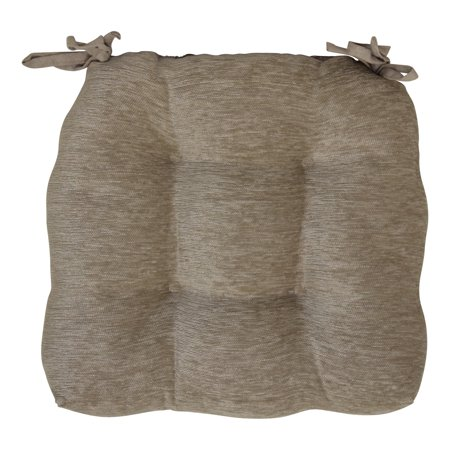 Brentwood Originals Crown Chenille Chair Pad, (Linen Cushion)