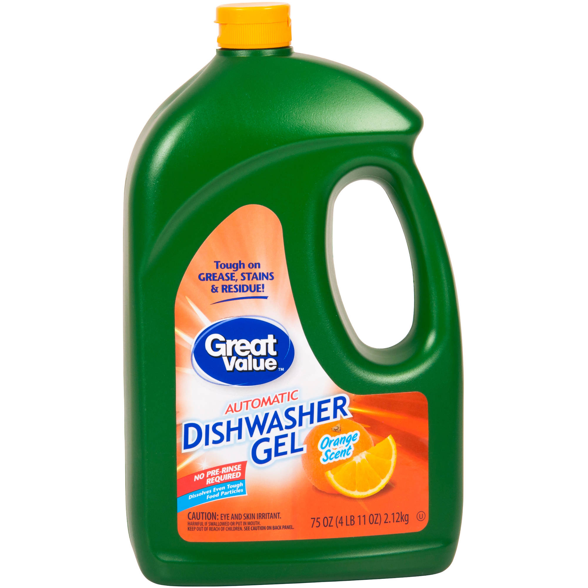 Great Value Orange Auto Dishwasher Gel Detegergent,  75 Oz