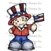 "Whipper Snapper Cling Stamp 4""X6""-Uncle Sam"