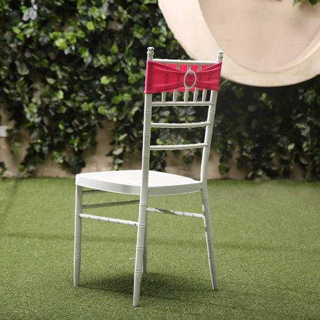 Balsacircle 5 Spandex Chair Sashes With Silver Round Buckle