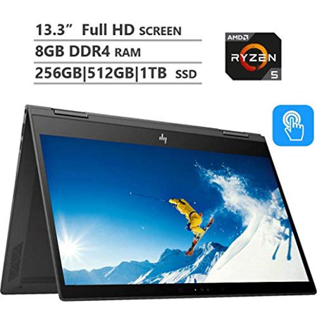 "HP Envy X360 13.3"" Full HD Touchscreen Laptop, AMD Ryzen 5 2500U up to 3.6GHz, 8GB DDR4 RAM, 128GB|256GB|512GB|1TB PCIe NVMe"