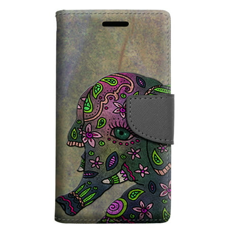Alcatel Pop 4 Wallet Case - Paisley Elephant Case