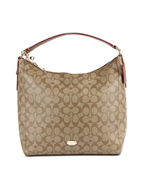 Coach Signature Celeste Convertible Hobo - Khaki/Saddle