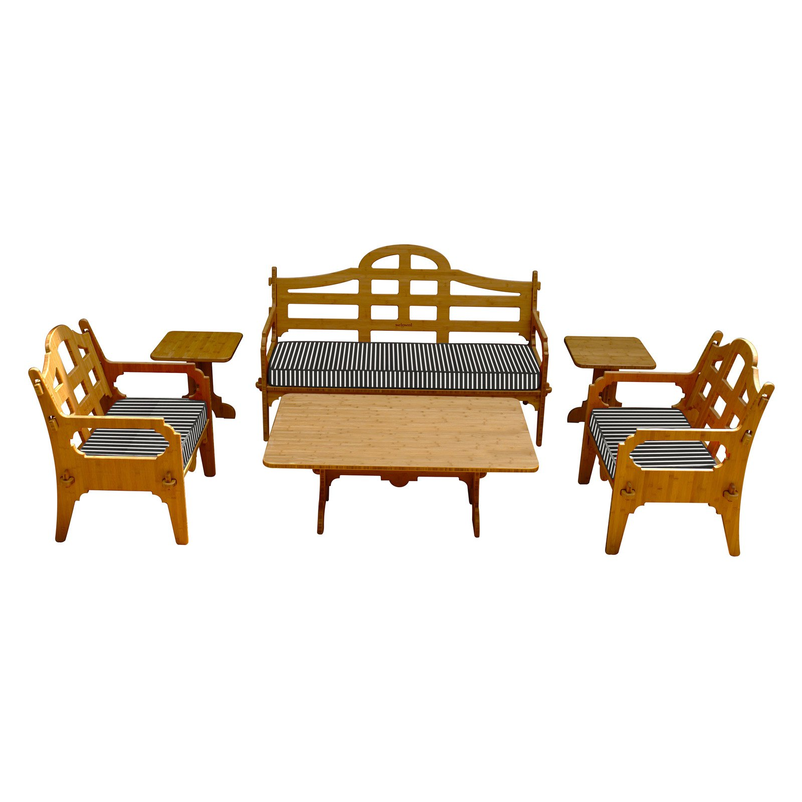 Wedgewood Furniture Palladian Bamboo 6 Piece Patio Conversation Set by