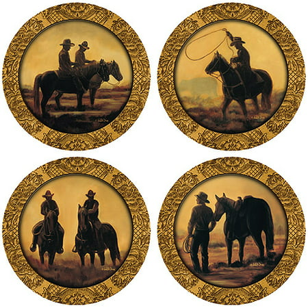 Thirstystone Drink Coasters Series, Cowboys by