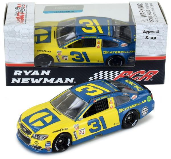 NASCAR Ryan Newman #31 Caterpillar Darlington Throwback 1/64 Kids Hardtop Car 2017