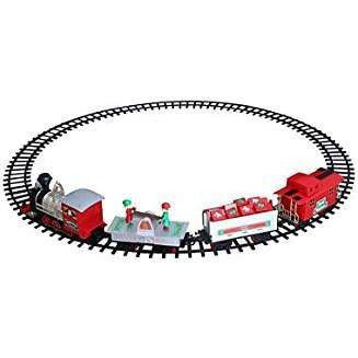 Blue Hat North Pole Junction Christmas Train Set -34 piece