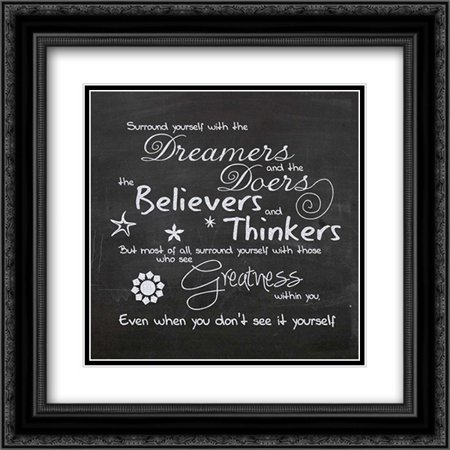 Surround Yourself D1 2x Matted 20x20 Black Ornate Framed Art Print by Gibbons,