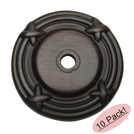 Cosmas 9468ORB Oil Rubbed Bronze Cabinet Hardware Knob Backplate / Back Plate - 10 Pack