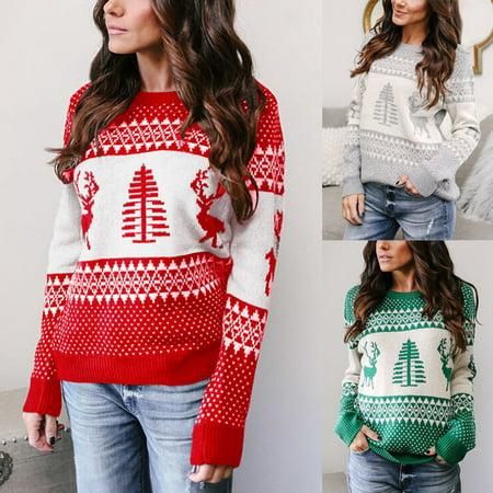 XMAS CHRISTMAS SWEATER Santa Elf Popular Women Winter Warm - Santa Has Been Naughty Sweater