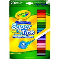 Crayola Super Tips Markers, Washable Markers, Assorted Colors, 20 Count