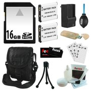 Essential Accessory Kit for Nikon Coolpix S100, S3100, S3300, S4100, S4300 + 16GB SDHC C10 + EN-EL19 Battery (900 Mah) + Rapid AC/ DC Charger + USB 2.0 Card Reader + Camera Case + Accessories