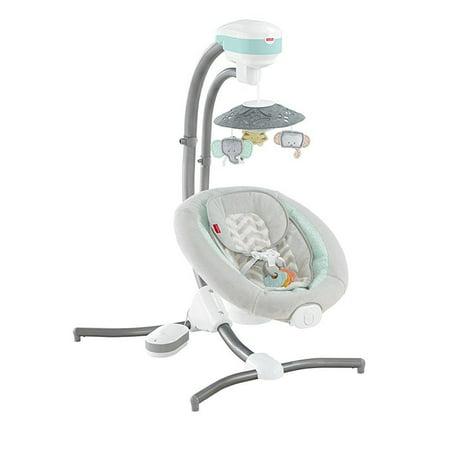 Fisher Price Baby Papasan Cradle - Fisher-Price Sweet Surroundings Cradle 'n Swing