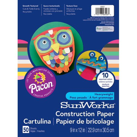 SunWorks Construction Paper, 10 Assorted Colors, 9â x 12â, 50 Sheets](Halloween Crafts To Do With Construction Paper)