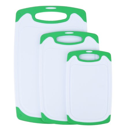 Plastic Cutting Board Oobest 3 Piece Chopping Set With Non Slip Feet And Deep Drip Juice Groove Dishwasher Safe Decorated Your