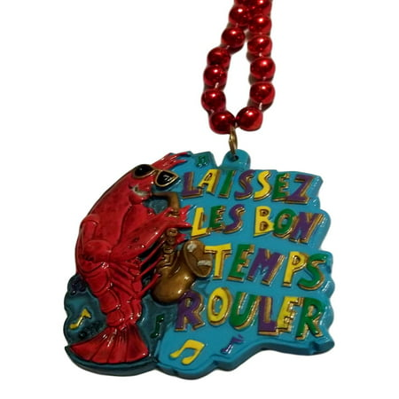 Crawfish Sax Laissez Les Bon Temps Rouler Mardi Gras Beads Party Favor