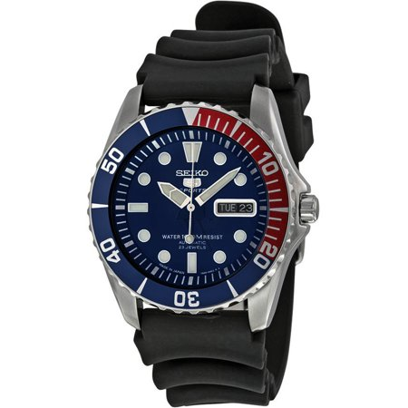 Seiko Automatic 200m Dive - SEIKO SNZF15J2,Men's Automatic Sports,Self Winding,Stainless Steel Case,Silicone Strap,Screw Back,100m WR,SNZF15J2