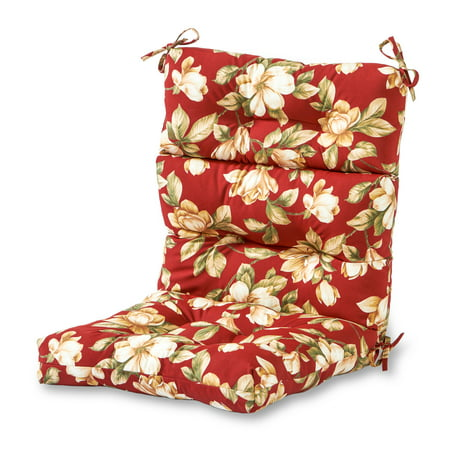 Floral Cushion (Greendale Home Fashions Roma Floral Outdoor High Back Chair Cushion )