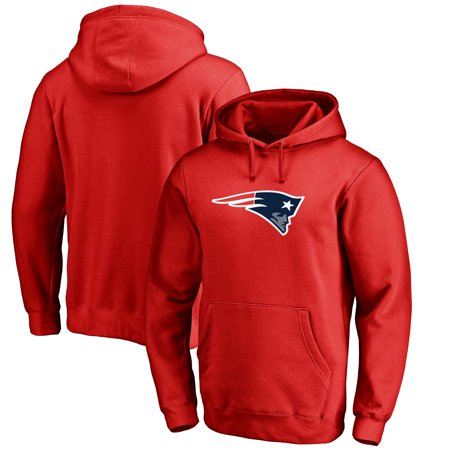 New England Patriots NFL Pro Line Primary Logo Hoodie - Red