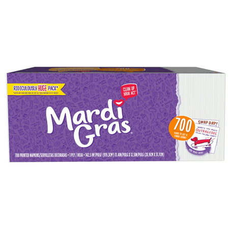 Mardi Gras Paper Napkins, Conversation Starter Prints, 700 Count for $<!---->