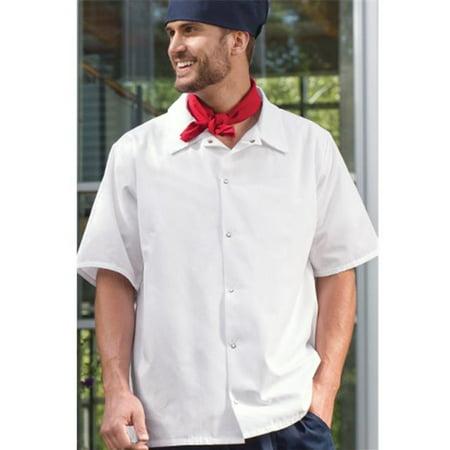 Large Utility Snap (Vtex 0954-2506 6 Snap Utility Shirt, White, 2X Large )